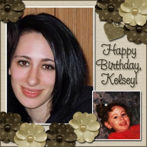 Kelsey 22 scrapbook page